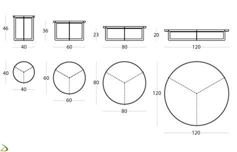 Tavolino basso rotondo in metallo Round   Arredo Design Online