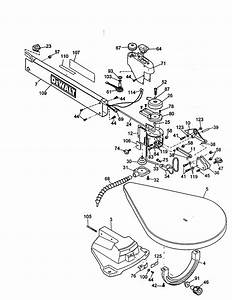 Arm And Table Diagram  U0026 Parts List For Model Dw788type1