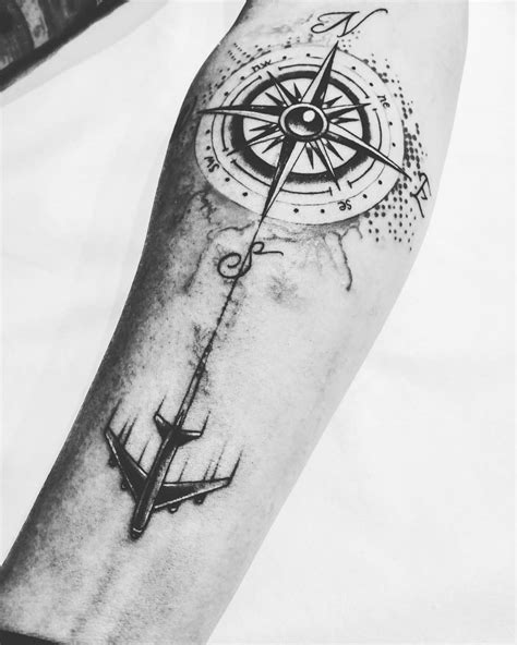 225 Compass Tattoos: Let A Compass Tattoo Guide Your Way! - Prochronism