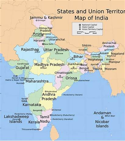 India States Map Svg Union Territories 1639