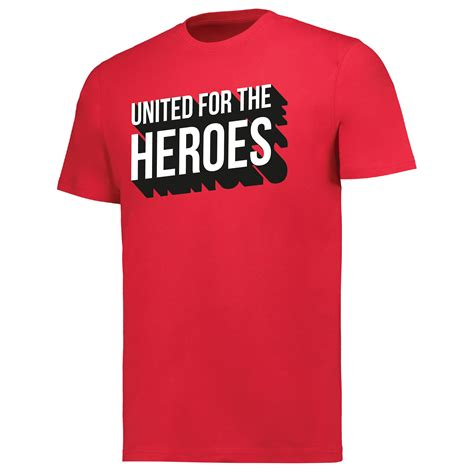 Manchester United For The Heroes T-Shirt - Red - Adult