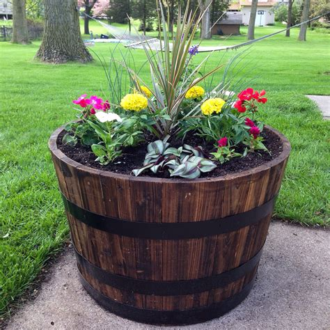 wine barrel planter ideas whiskey barrel planter garden whiskey