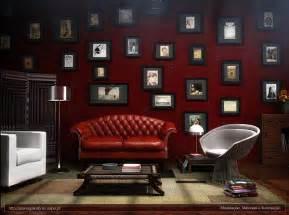elegant maroon living room design
