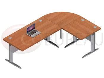 bureau de liaison ensemble bureau 160 cm pro métal avec angle de liaison 90