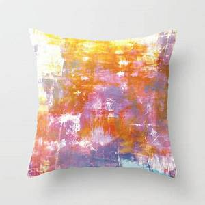 OFF THE GRID 3 Pastel Neon Purple Rust Orange Yellow Throw