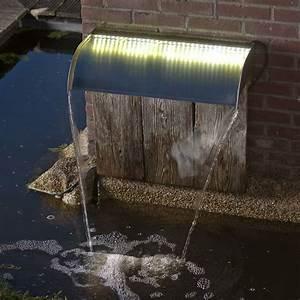 Lame D Eau Bassin : kit lame d 39 eau inox niagara 30 cm avec leds ubbink ~ Premium-room.com Idées de Décoration