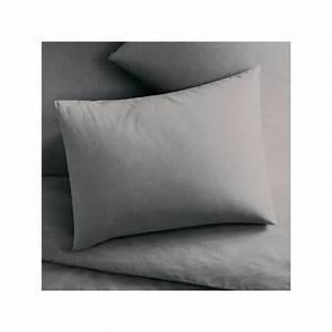 Taie D Oreiller 50x70 : taie d 39 oreiller 50x70 cm prot ge oreiller rectangle gris kolorados ~ Teatrodelosmanantiales.com Idées de Décoration