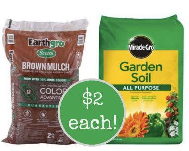 home depot garden soil earthgro colored mulch or miraclegro garden soil only 2