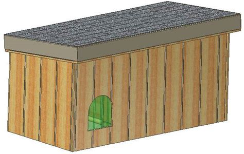 insulated dog house plans  total large dog  covered porch plans