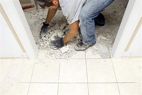 removing tile floor how to demolish a marble flooring tile
