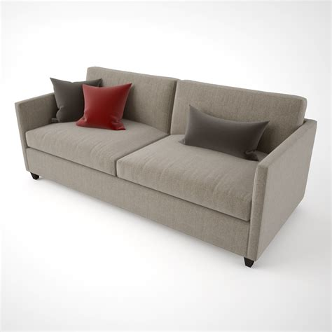 Crate And Barrel Apartment Sofa Harborside Slipcovered