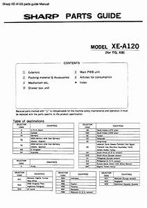 Sharp Xe-a120 Parts Guide Manual Pdf