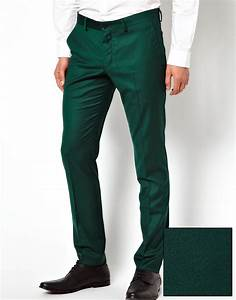 Lyst - Asos Selected Skinny Fit Suit Pants in Green for Men