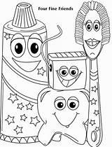 Coloring Dental Sheets Sheet Health Toddler Preschool Hygiene Printable Dentist Four Fine Friends Activities Toddlers Colouring Exam Duathlongijon sketch template