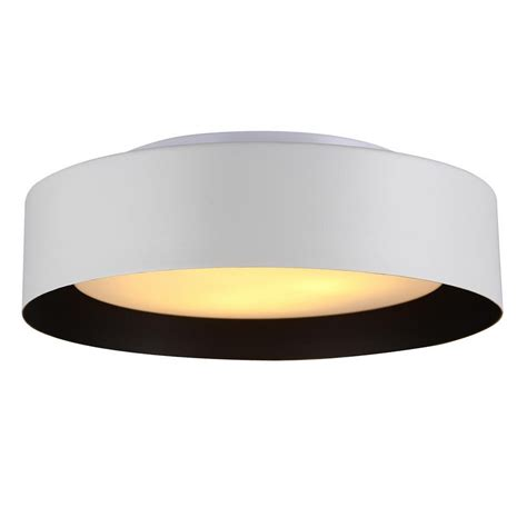 lynch white black flush mount ceiling light b4106b
