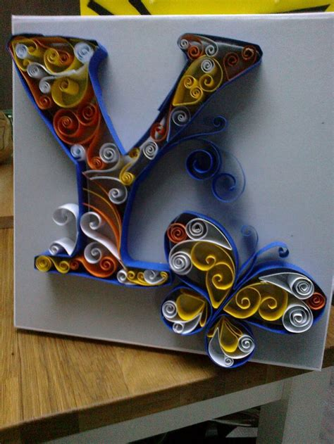 letter yquilling letter  butterfly quilling pinterest quilling letters