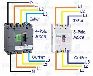 How To Wire Mccb Circuit Breakers  U2013 3 Pole And 4 Pole