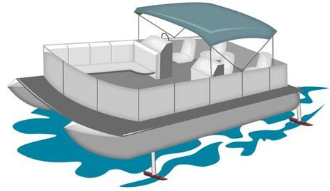 Boat On Lake Clipart by Pontoon Boat Clipart 101 Clip
