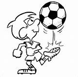 Coloring Soccer Pages Football Boy Boys Printable Player Colouring Drawing Cliparts Playing Cartoon Sheets Ball Play Clipart Kicks Template Pdf sketch template
