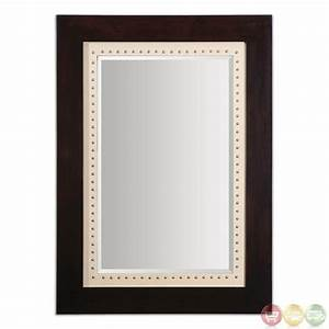 Brinkley Traditional Burnished Wood Tone Mirror 14540