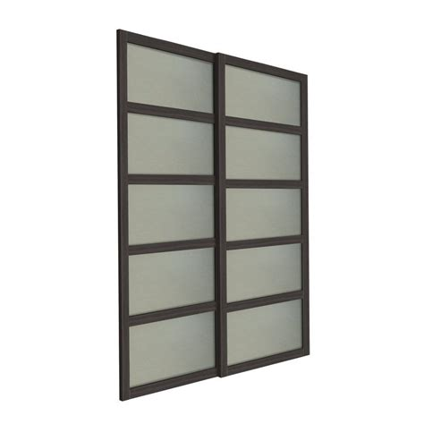 Sliding Closet Doors Canada by Shop Unbranded Bali 2 Panel Glass Sliding Closet Door