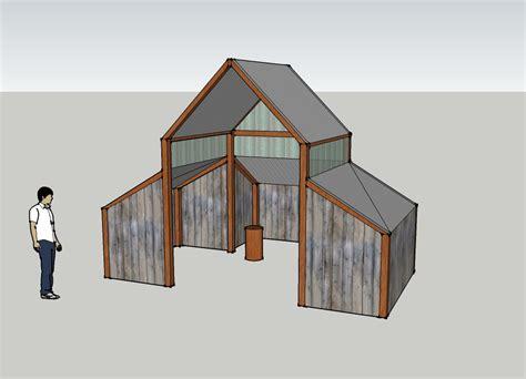 wood shed plans ended  costing    load