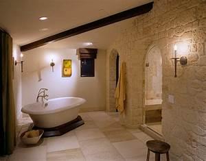 parement pierre salle de bain 35 exemples magnifiques With pierre naturelle salle de bain