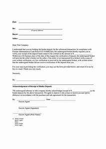 Letter For Application For Loan Receipt Of The Deposit Funds Verification Letter Template
