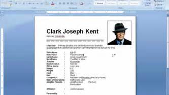 create a resume in microsoft word 2007 ms word tutorial how to insert picture in resume
