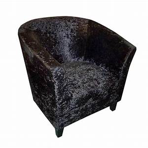 Crushed Velvet Tub Chair