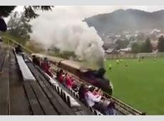 The strangest football stadium in the world? Train line