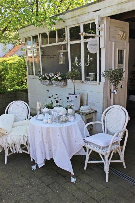 shabby chic terrace  patio decor ideas shelterness
