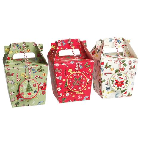 pack of 3 panettone christmas gift boxes from mollie