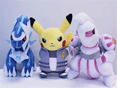 Team Pokemon Rocket Rainbow Pikachu Plushies Reshiram
