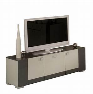 Meuble Repeint En Gris Perle : meuble tv matrix gris perle gris anthracite ~ Dailycaller-alerts.com Idées de Décoration