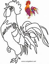 Rooster Coloring Chicken Pages Hen Patterns Google Pattern Roosters Glass Colouring Stained Mosaic sketch template