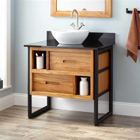 teak bathroom vanity 30 quot declan teak vessel sink vanity teak