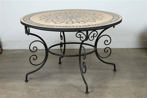 Mosaic Tile Outdoor Table by Moroccan Outdoor Mosaic Tile Dining Table On Arts
