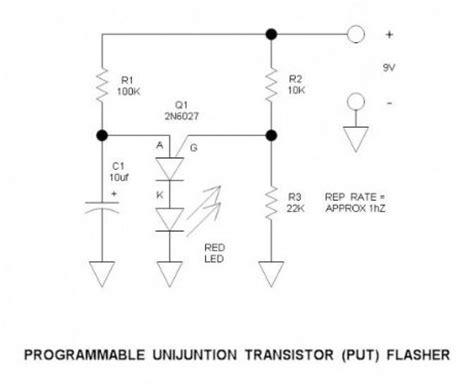 Programmable Unijunction Transistor Flasher Led