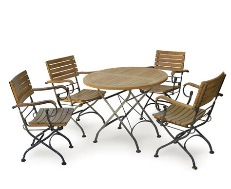 garden bistro table and 4 arm chairs
