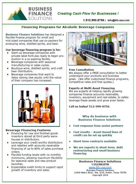 flyer companies beverage financing programs keep your products flowing
