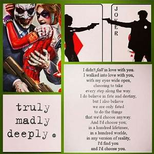 Joker/Harley Ma... Harley And Joker Quotes