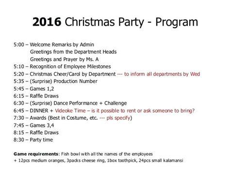 Sample Emcee Script For Christmas Party Program