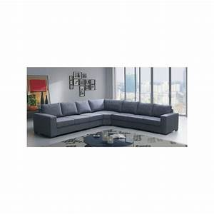 canape angle cuir 7 places salon cuir d angle vitry sur With nettoyage tapis avec canape angle 7 places