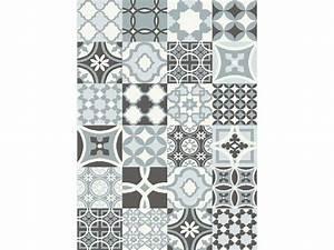 Tapis Effet Carreaux De Ciment : tapis effet carreaux de ciment 120x170 cm caro coloris gris bleu vente de tapis moyenne et ~ Teatrodelosmanantiales.com Idées de Décoration