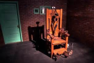 photo 618 04 sparky electric chair used for capital in prison museum huntsville