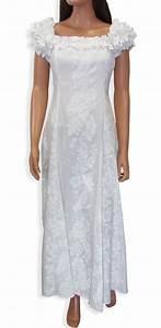 white hawaiian wedding dress muumuu sz xs 2xl honolulu With wedding dresses honolulu