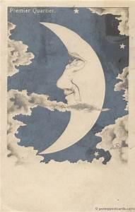 Vintage man-in-the-moon illustration | ILLUSION ...