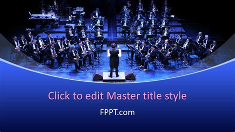 orchestra powerpoint template  powerpoint templates