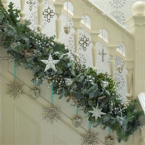 Banister Decorations For Christmas by The 25 Best Christmas Garlands Ideas On Pinterest